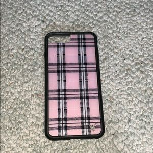 Wildflower Pink Plaid Iphone 8 Plus Case